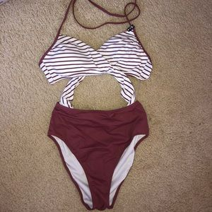 Pink pink piece swimsuit